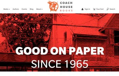 Coach House Books' ReaderBound website