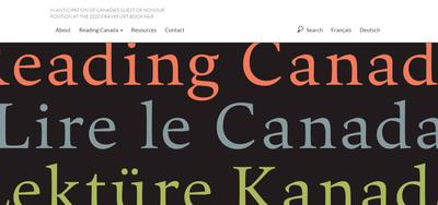 Reading Canada website showcases CanLit on the world stage