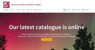 Wilfrid Laurier University Press website lets small team to do big things online