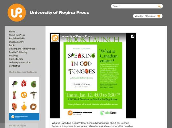 University of Regina Press gets a grade A website   ReaderBound